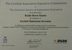 CAE Certificate