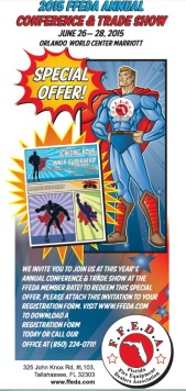 Superhero Postcard