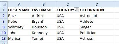 Excel #2b